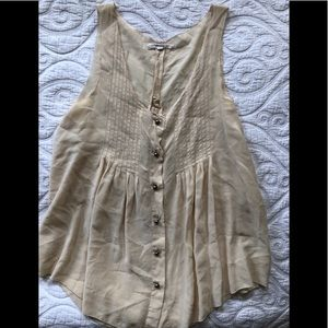 Madewell 100% silk tank top blouse size XS